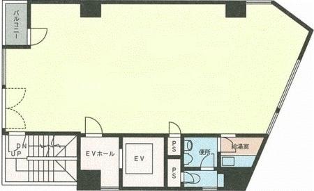 神楽坂藤井ビル:基準階図面