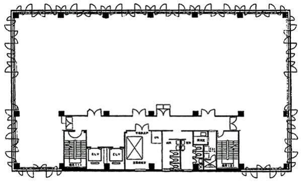 港南パークビル:基準階図面