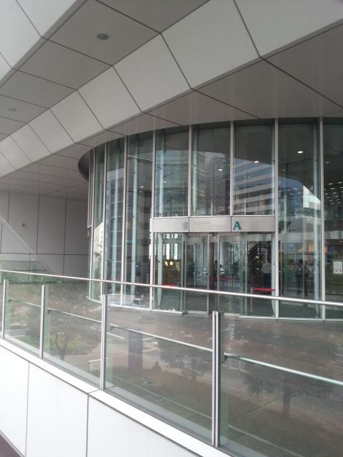 品川インターシティA棟のエントランス