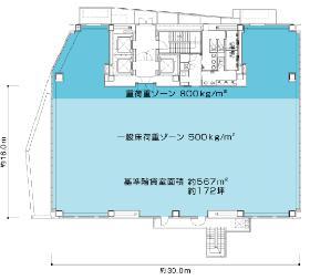 AKASAKA ENOKI-ZAKA BUILDING(旧赤坂榎坂森ビル:基準階図面