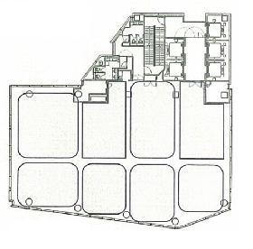 芝公園フロントタワービル:基準階図面