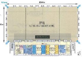 芝浦ルネサイトタワー:基準階図面