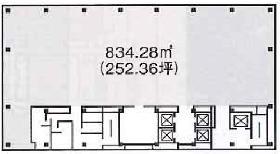 興和西新橋B棟ビル:基準階図面
