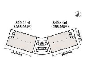 新霞が関ビルディング:基準階図面