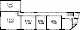 第2大倉ビル:基準階図面