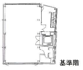 青山江崎ビル:基準階図面