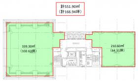兜町第1平和ビル:基準階図面
