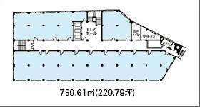 日証館ビル:基準階図面