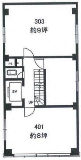 小野商ビル:基準階図面