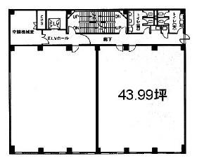 二番町大沼ビル:基準階図面
