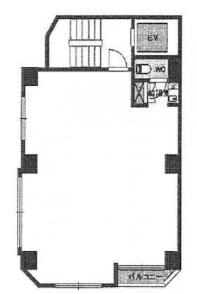 日本橋243(リベラ日本橋)ビル:基準階図面