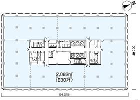 岸本ビル:基準階図面