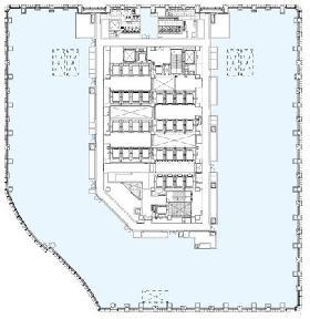 丸の内パークビル:基準階図面