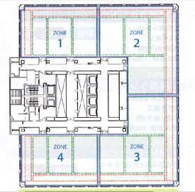 新宿フロントタワー:基準階図面