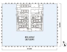 大手町フィナンシャルシテイサウスタワー:基準階図面