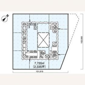 日本ビル:基準階図面