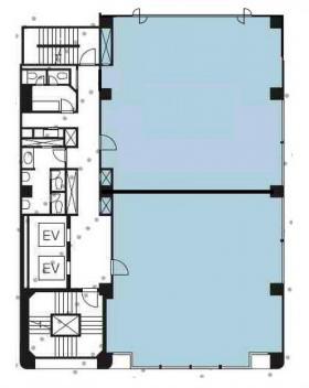 新富町ビル:基準階図面