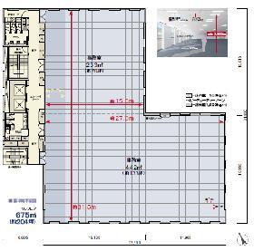 西鉄日本橋ビル:基準階図面