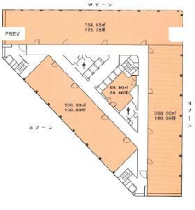 小田急第一生命ビルの基準階図面