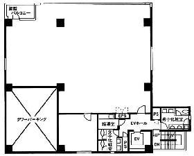 セルバ人形町:基準階図面
