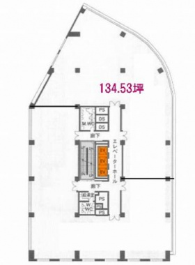 内神田282ビル:基準階図面
