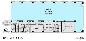 JPR市ヶ谷ビル:基準階図面