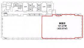 アクロス新川ビル:基準階図面