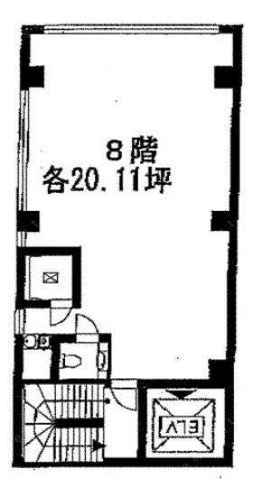 東京風月堂ビル:基準階図面