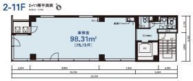 クローバー日本橋ビル:基準階図面