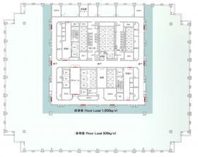 品川グランドセントラルタワー:基準階図面