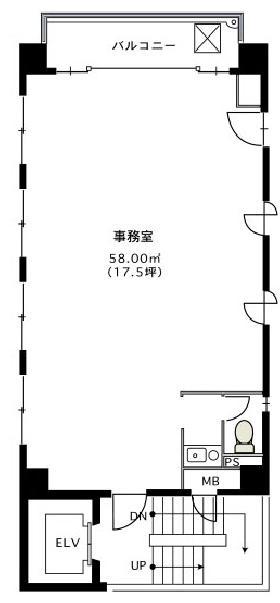 京橋昌平ビル:基準階図面