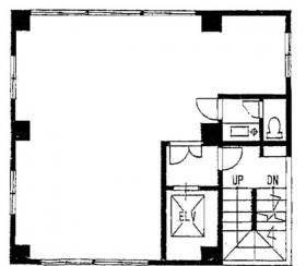 朝日第3ビル:基準階図面