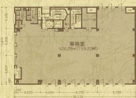 四谷オーキッドビル:基準階図面