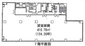 明治安田生命八重洲ビル:基準階図面