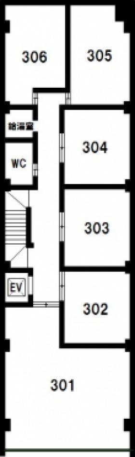 北村ビルディング:基準階図面
