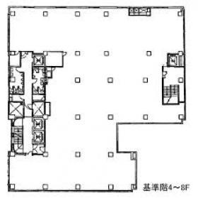 八重洲口会館:基準階図面