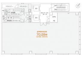 PMO日本橋大伝馬町ビル:基準階図面