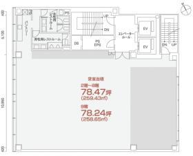 PMO八丁堀ビル:基準階図面