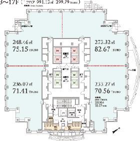 恵比寿プライムスクエアタワー:基準階図面