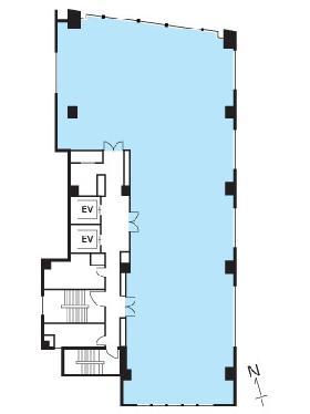 麹町KSスクエアビル:基準階図面