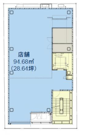銀座モリタビル:基準階図面