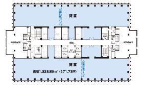 新宿野村ビル:基準階図面