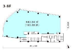 スプライン青山東急ビル:基準階図面