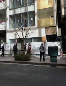 銀座藤小西本店ビルのエントランス