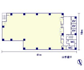 レキシントン・プラザ西五反田:基準階図面