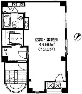 サンリット銀座ビル:基準階図面