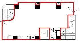 市ヶ谷KTビル2:基準階図面