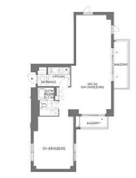アークヒルズエグゼクティブタワービル:基準階図面