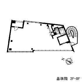 永田町SRビル:基準階図面