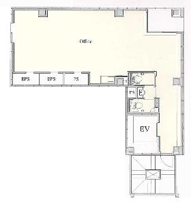 内幸町企画ビル:基準階図面